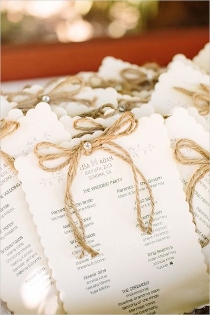 Cozy Ideas Of Using Twine At Rustic Weddings