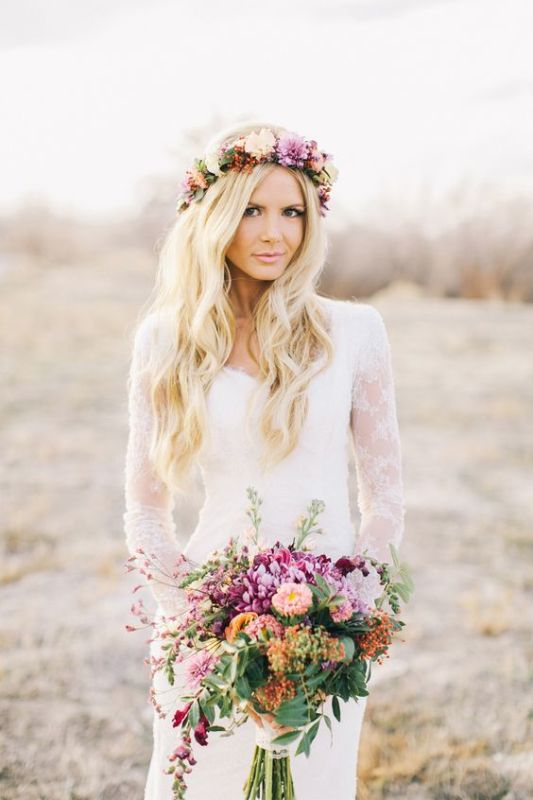 25 Romantic Spring Bohemian Bridal Looks To Get Inspired