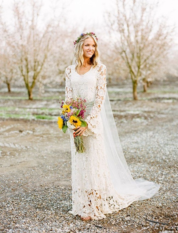 25 Romantic Spring Bohemian Bridal Looks To Get Inspired - Weddingomania
