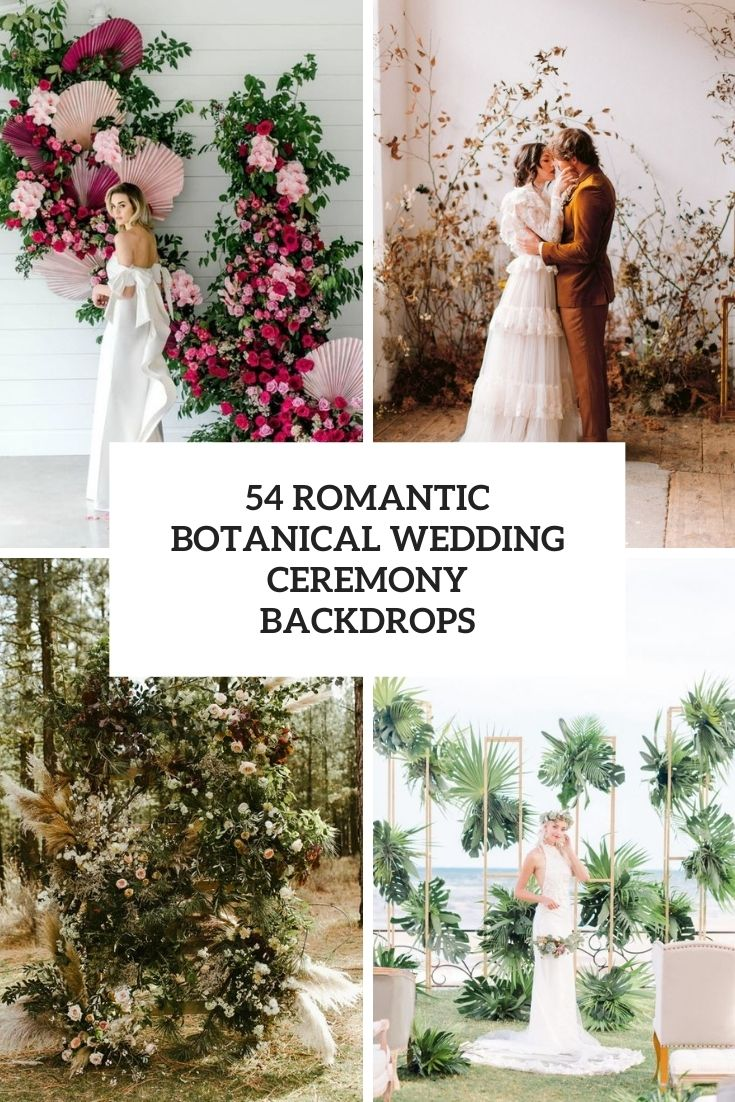 romantic botanical wedding ceremony backdrops cover