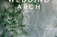 Cute DIY Greenery Wedding Arch