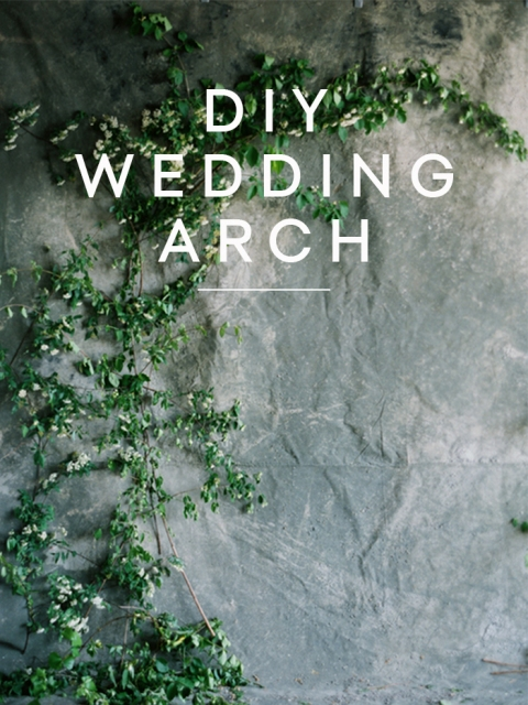 Cute DIY Fresh Greenery Wedding Arch