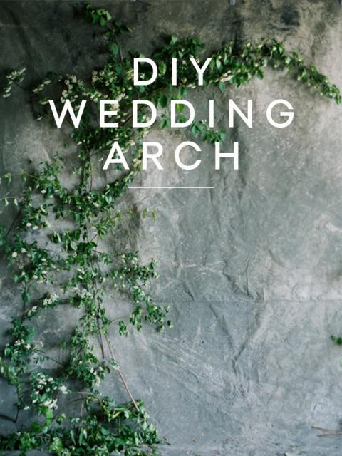 Cute DIY Fresh Greenery Wedding Arch