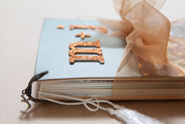 cute diy wedding card minialbum weddingomania