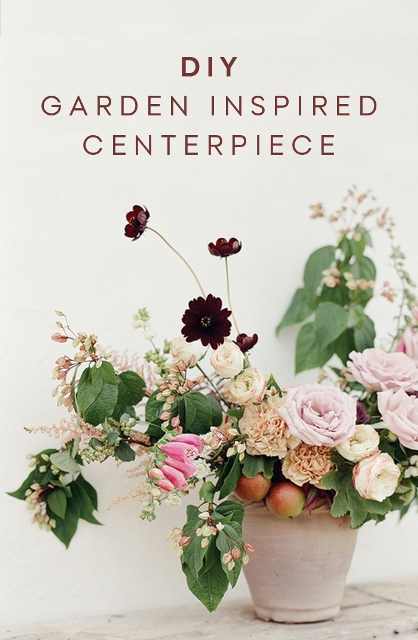 DIY Garden-Inspired Floral Centerpiece For Your Wedding