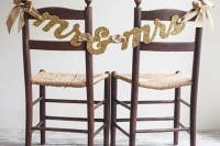 Glittery DIY Mr & Mrs Chair Banner2