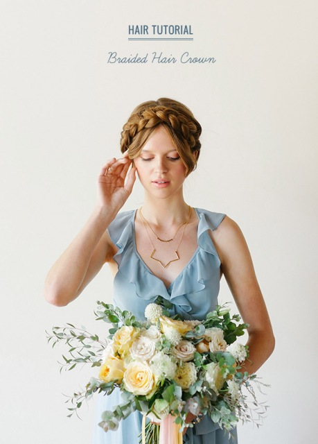 Gorgeous DIY Braided Hair Crown For Brides