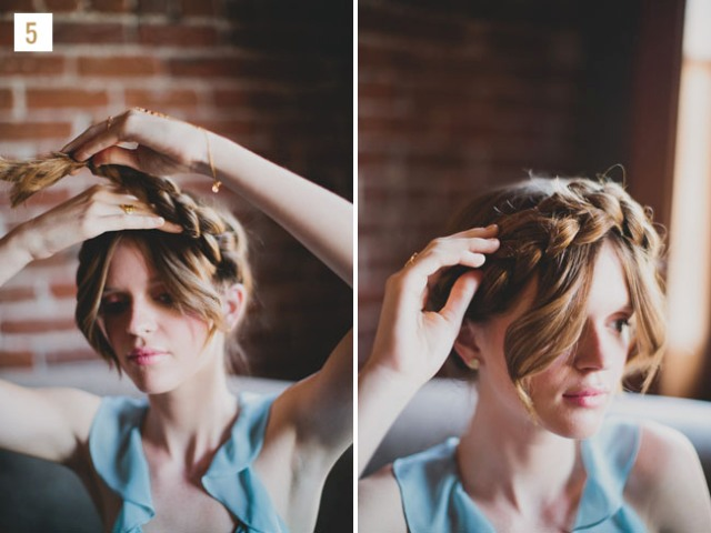 Gorgeous DIY Braided Hair Crown For Brides