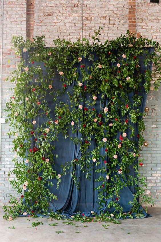 Basilica Hudson Wedding, Deep Red Dahlias, Casey Fatchett, Marchesa Dress, www.snippetandink.com