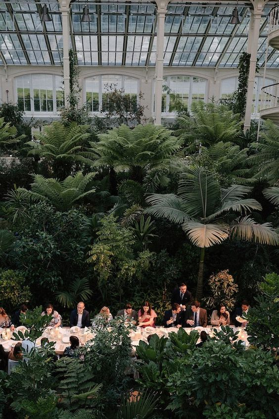 a lush and welcoming garden wedding venue with lots of plants, bushes and trees requires no additional decor