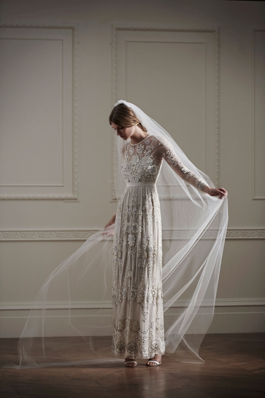 Picture Of beautiful embellished gowns from needle thread london 2016 collection  1