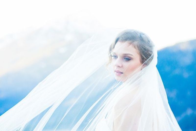 Picture Of breathtakingly beautiful cliffside bridal shoot on dablo lake  12