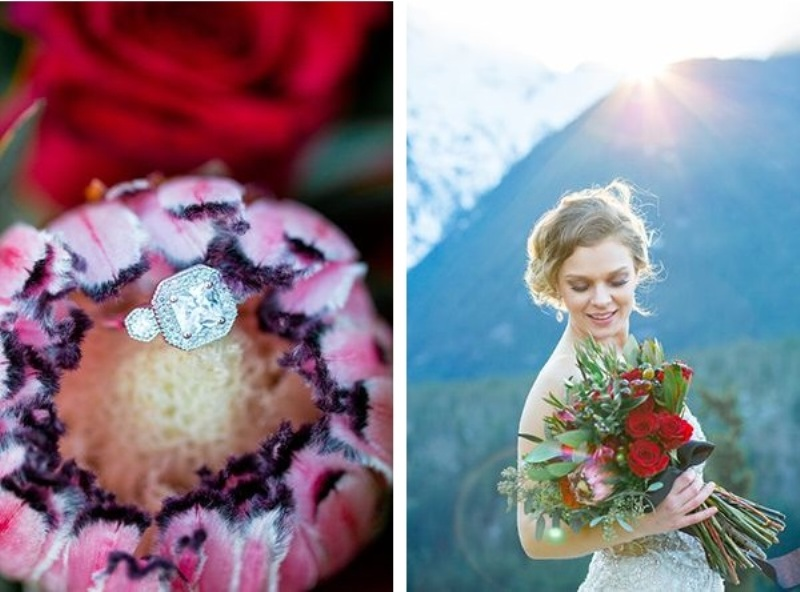 Picture Of breathtakingly beautiful cliffside bridal shoot on dablo lake  14