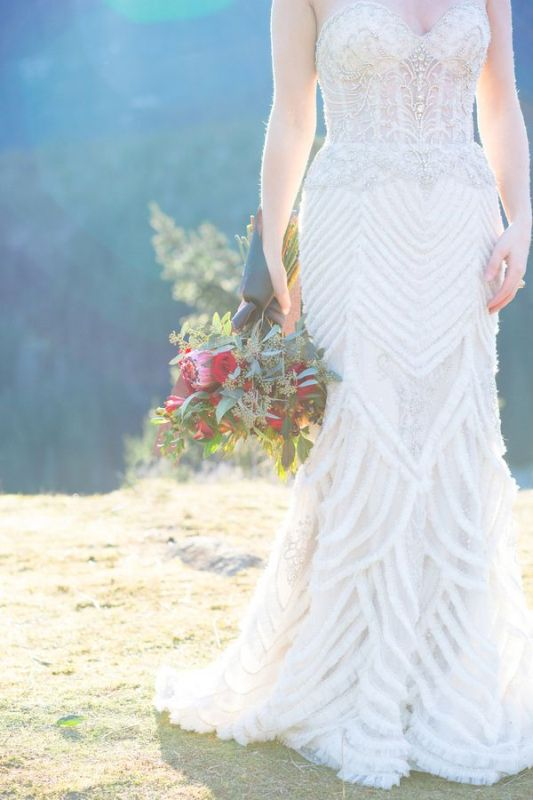 Picture Of breathtakingly beautiful cliffside bridal shoot on dablo lake  2