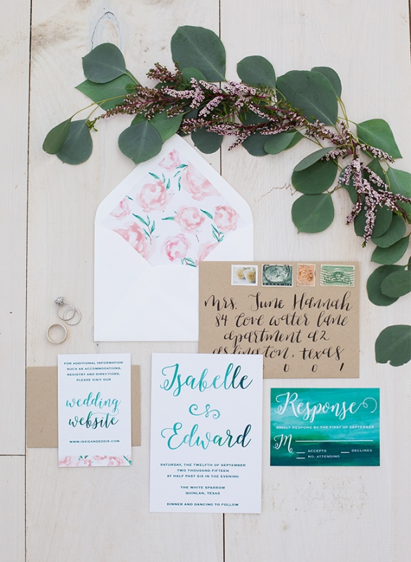 Charming Pastel And Emerald Barn Wedding