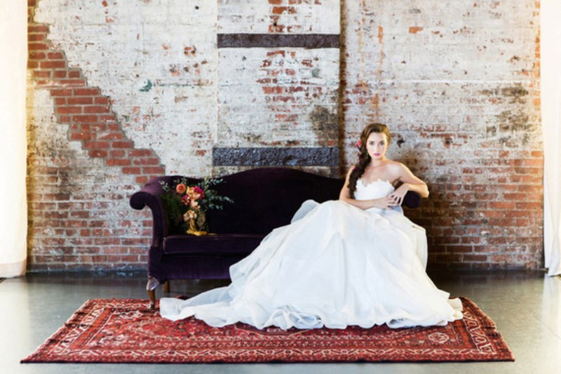 Picture Of jewel toned modern industrial wedding inspiration  14