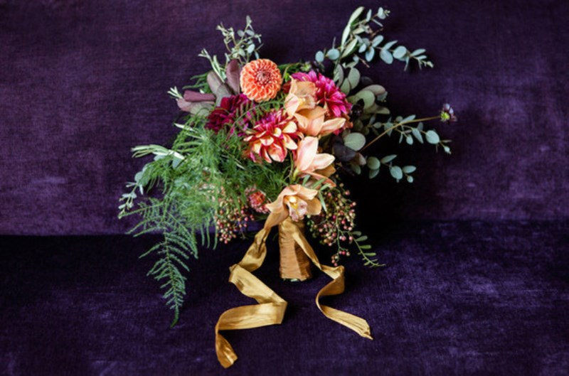Picture Of jewel toned modern industrial wedding inspiration  19