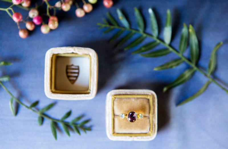 Picture Of jewel toned modern industrial wedding inspiration  6