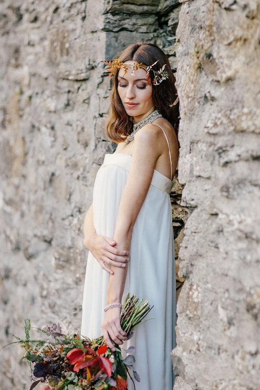 Laid Back And Scandinavian Inspired Autumn Bridal Shoot