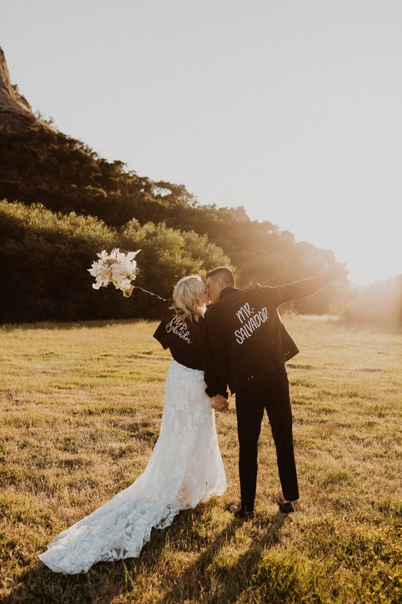 matching black denim personalized jackets with painting and embroidery are super cool