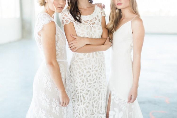 Monochrome White Bridal Look Inspiration
