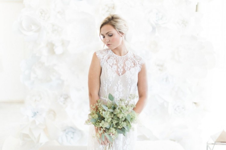 Monochrome White Bridal Look Inspiration