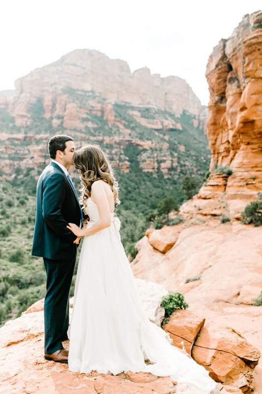 Romantic Travel Themed Wedding In Sedona