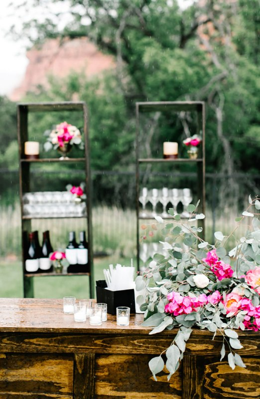 Picture Of romantic travel themed wedding in sedona  18