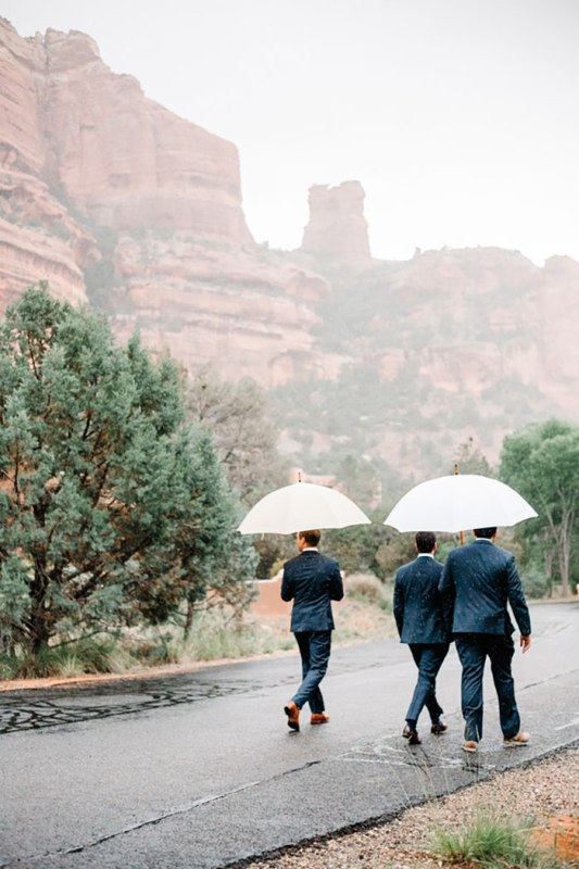 Picture Of romantic travel themed wedding in sedona  19