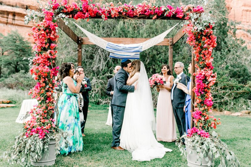 Picture Of romantic travel themed wedding in sedona  24