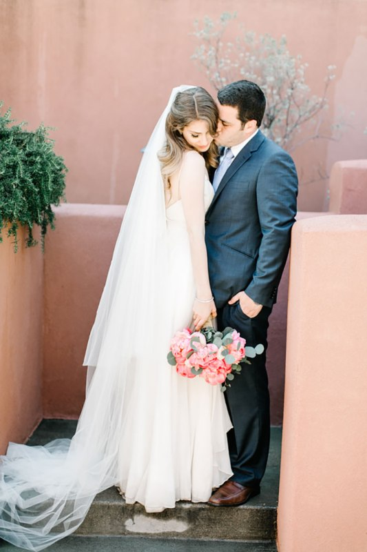 Picture Of romantic travel themed wedding in sedona  27