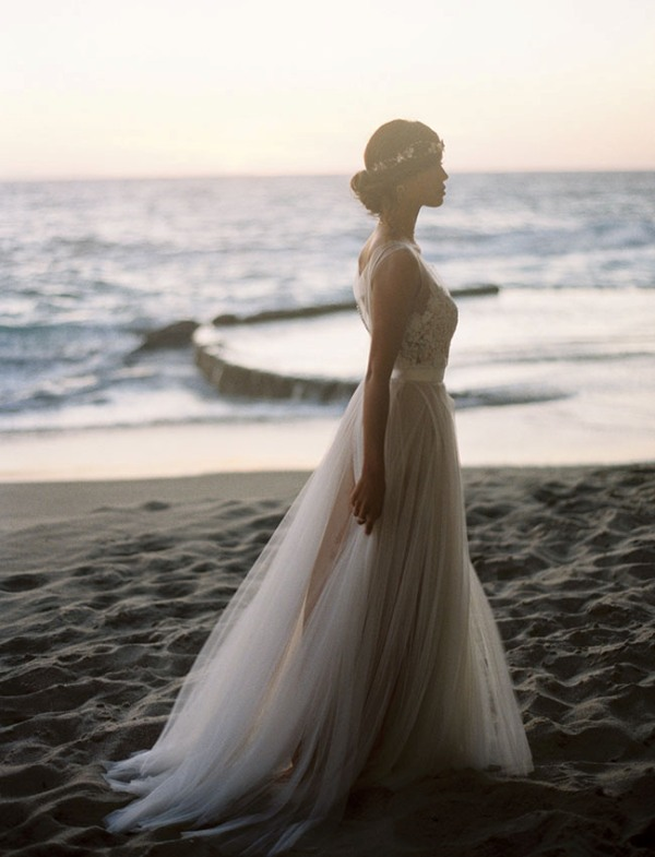 Picture Of rose quartz and serenity beachside wedding shoot  22