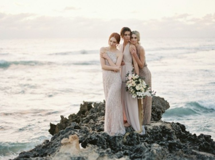 'The Sunset Blush' Bridesmaids' Dresses Collection Inspiration