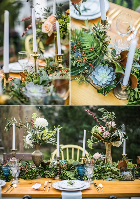 Picture Of vintage meets rustic backyard wedding inspiration  10