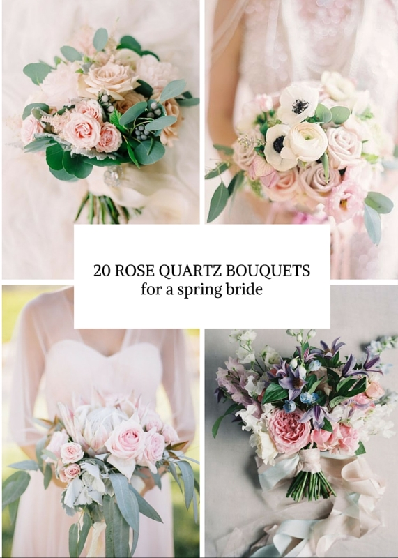 20 rose quartz wedding bouquets to get inspired