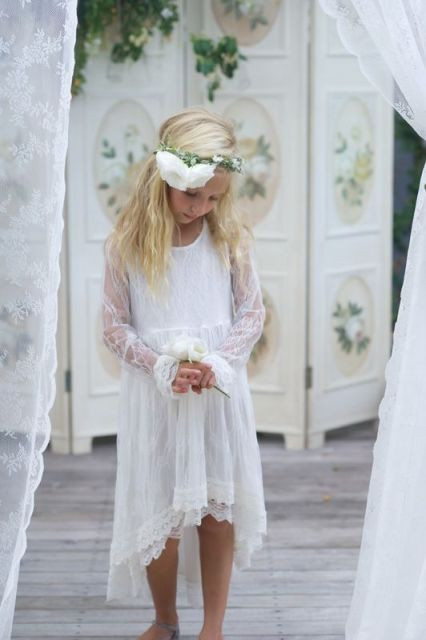 airy flower girl's outfit