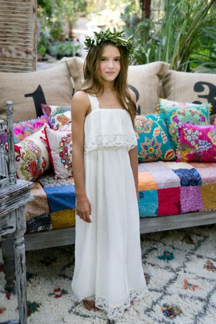 Airy And Beautiful Boho Flower Girl Dresses