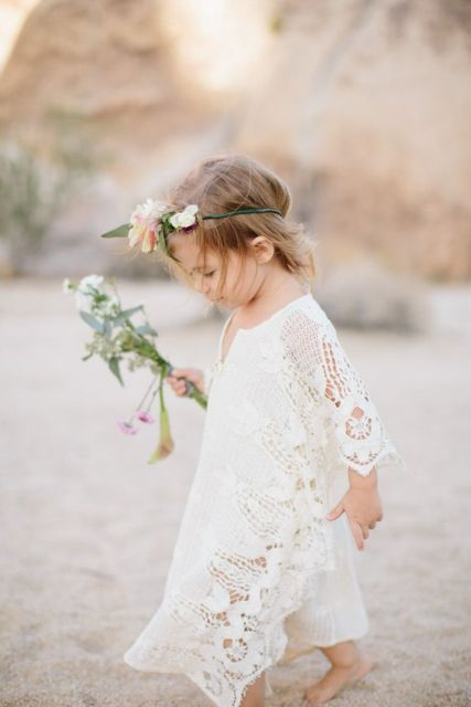 21 Airy And Beautiful Boho Flower Girl Dresses - Weddingomania