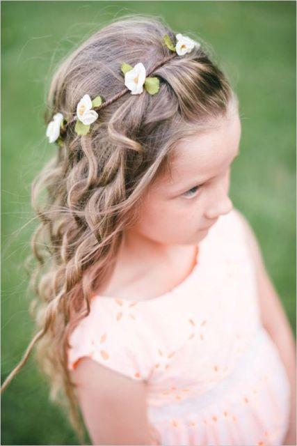 Flower Girl Hairstyles simple half up girls hairstyle Super Cute Flower Girl Hairstyle Ideas To Make