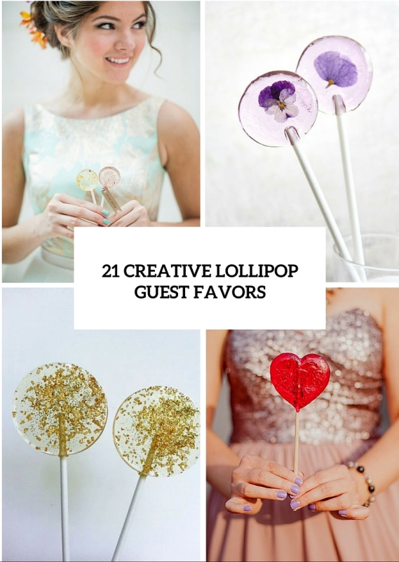 21 creative lollipop favors for your guests