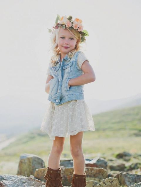Flower Girl Outfits For Country Weddings