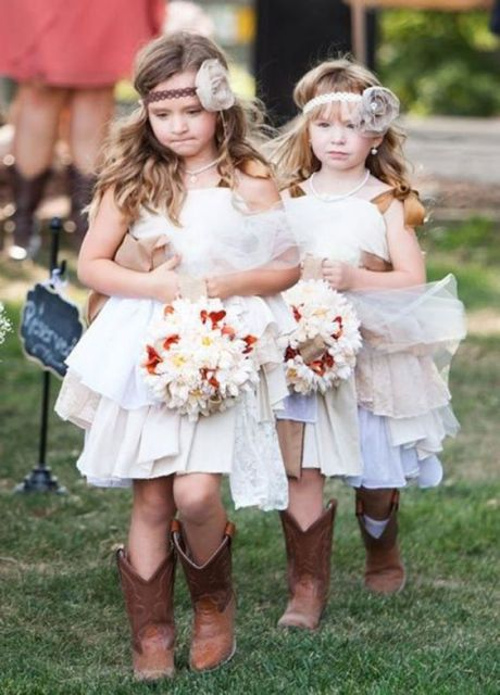 Picture of flower girl outfits for country weddings 5 for Country wedding flower girl dresses