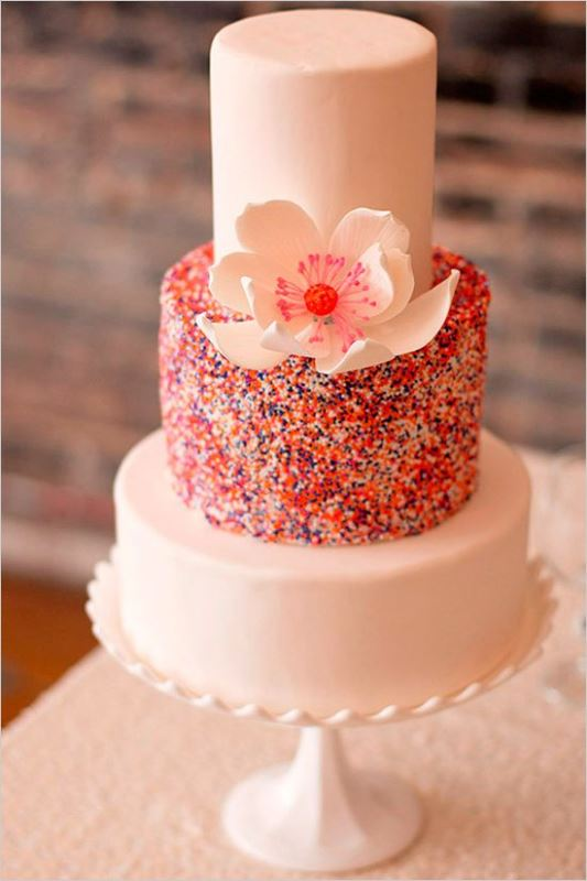 23 Fun And Colorful Sprinkle Wedding Cakes