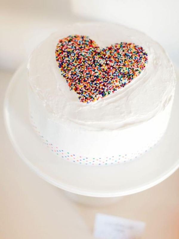 Fun And Colorful Sprinkle Wedding Cakes