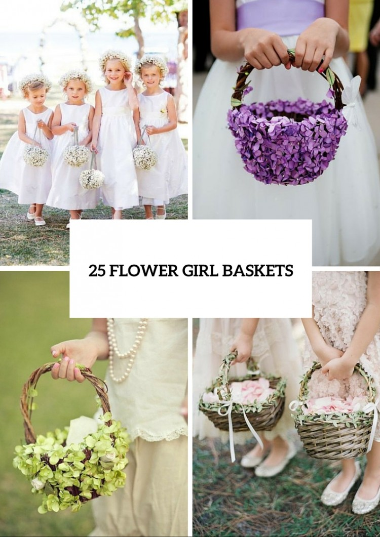 25 Lovely Flower Girl Basket Ideas To Try Weddingomania