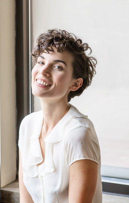 short curls look very sassy and cool, you don't need anything else to rock