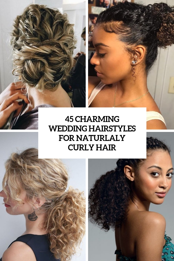 29 Charming Brideu0027s Wedding Hairstyles For Naturally Curly Hair