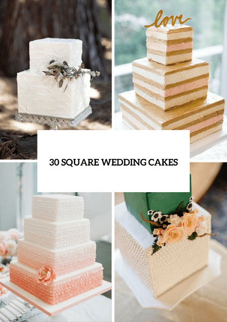 square wedding cake ideas 30 gorgeous square wedding cake ideas weddingomania us226 20387