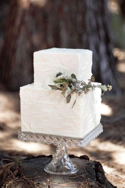 30 Gorgeous Square Wedding Cake Ideas Crazyforus