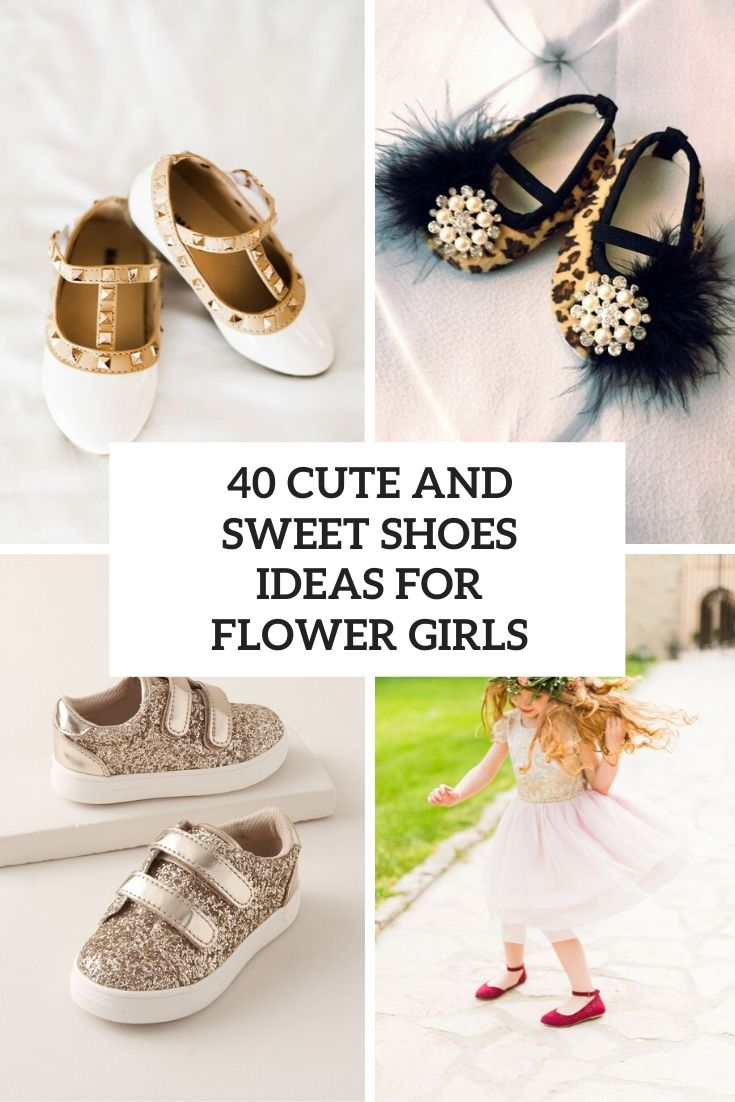 40 Cute And Sweet Shoes Ideas For Flower Girls